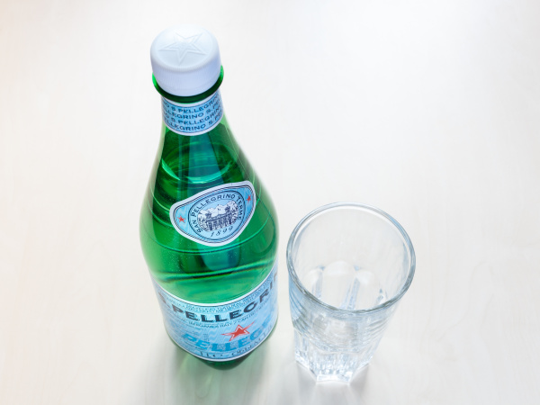 above view of closed bottle of