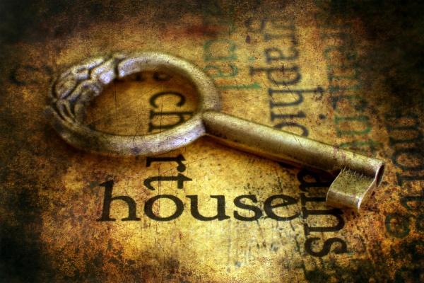 key on housing grunge background