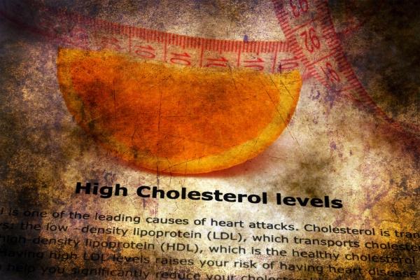 high cholesterol level grunge concept