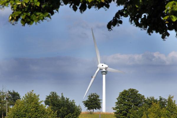 wind turbine at the kronsberg in