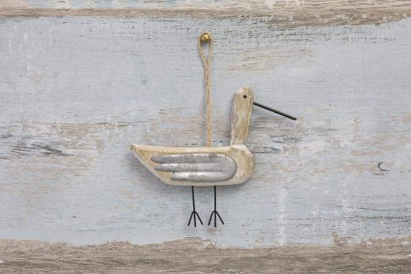 cute sea gull on wood