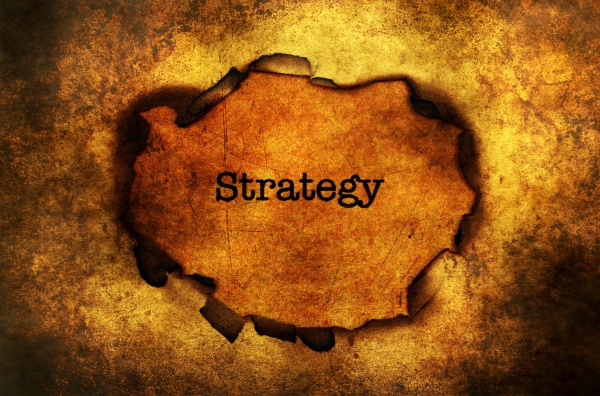strategy paper hole grunge concept