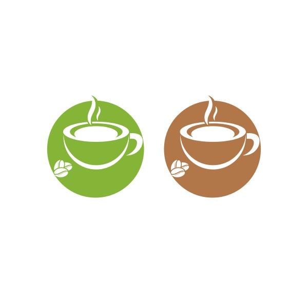 coffee, cup, logo, template, vector, icon - 28592647