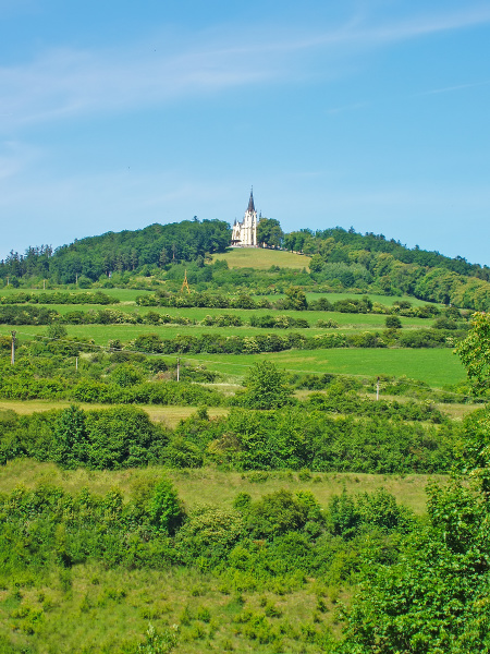 hill with church