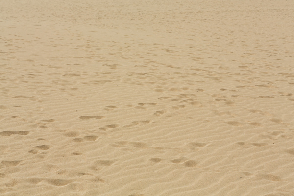 sand patterns after wind on