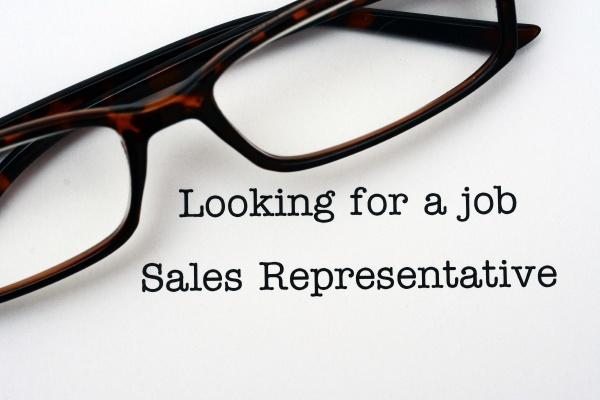 looking for a job sales representative