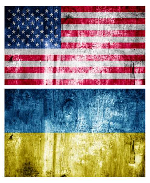 two flags wooden textured relations
