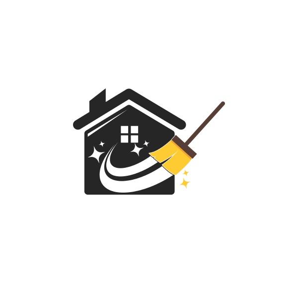 house cleaner logo vector