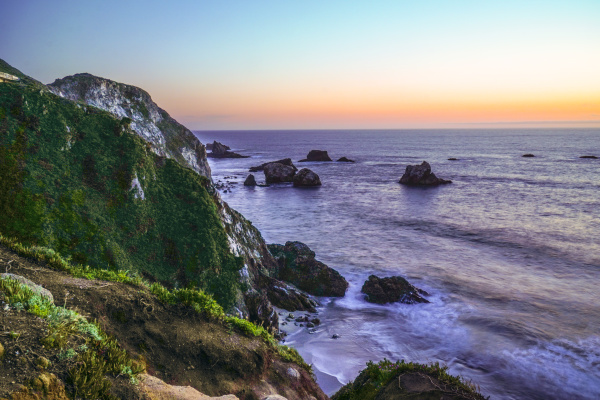 the beautiful cliffs of big sur