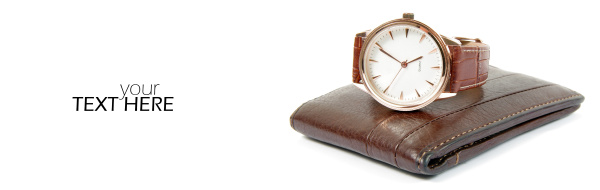 wallet with the watch and copy
