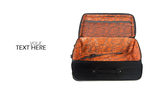 luggage suitcase with the copy space