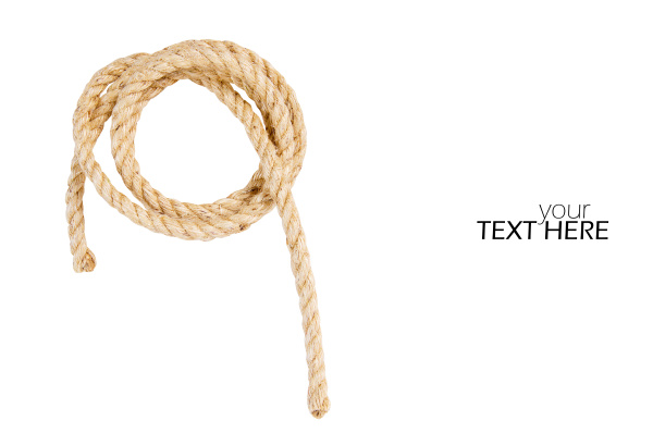 vintage rope with the copy space