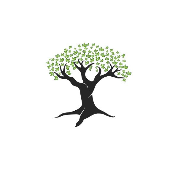 tree leaf vector logo design eco