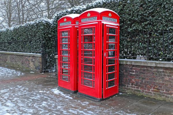 snow telephone booths