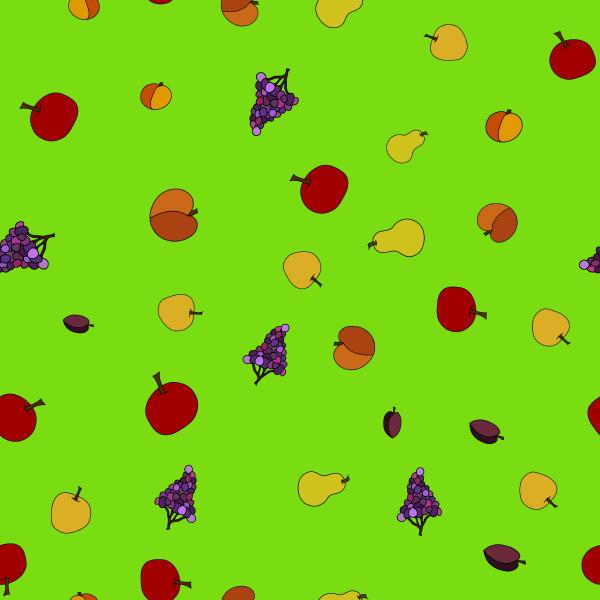 hand drawn fruit seamless pattern