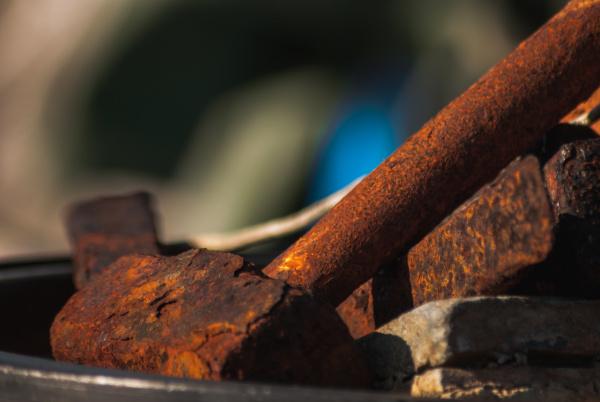 an old rusty hammer