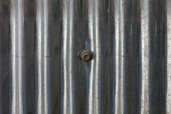 zinc industrial wall with nut texture