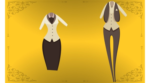mock up illustration of female dress