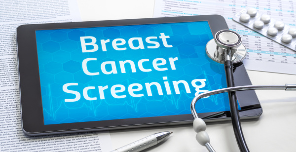 the word breast cancer screening on