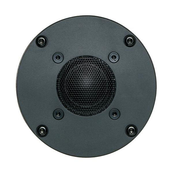a black tweeter speaker cone