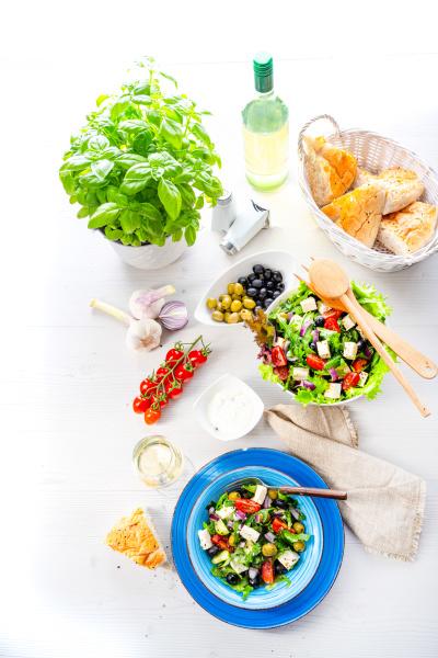 rustic greek salad with sheep s
