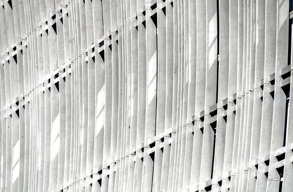 curved concrete facade