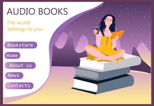 modern interface for e books audio