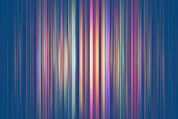 colourful light streaks