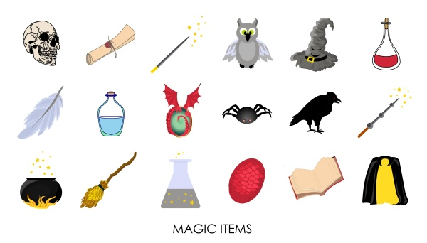 magic stickers collection of mystical magic