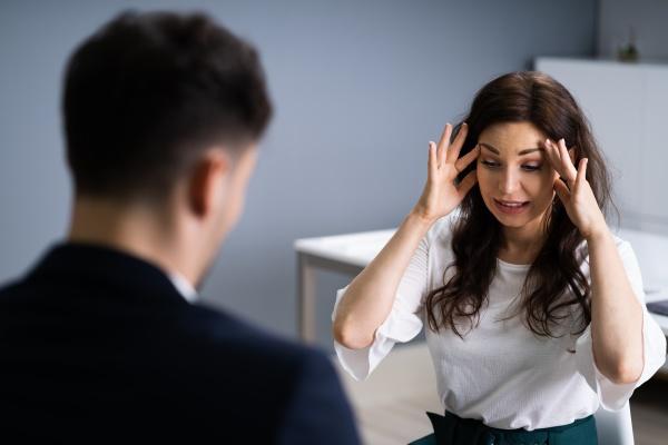 psychiatric patient treatment by psychotherapist man