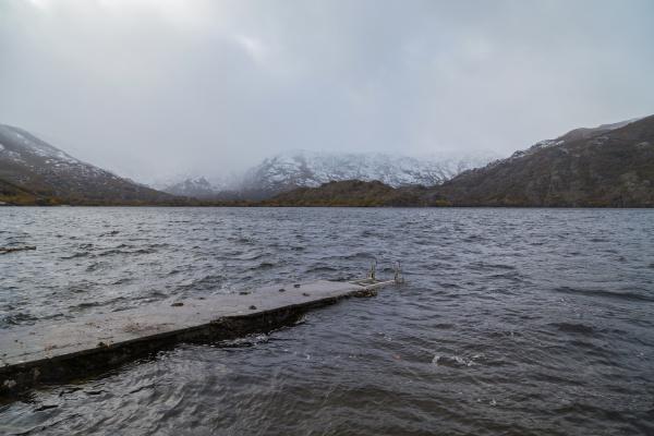 sanabria lake in winter