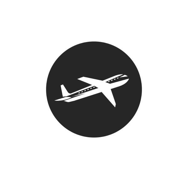 plane logo vector icon illustration design