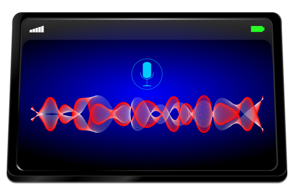 tablet computer with voice recognition