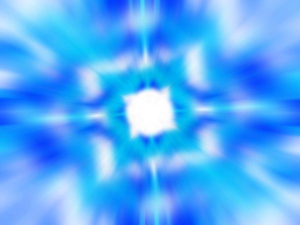 blue and white blurred kaleidoscope pattern