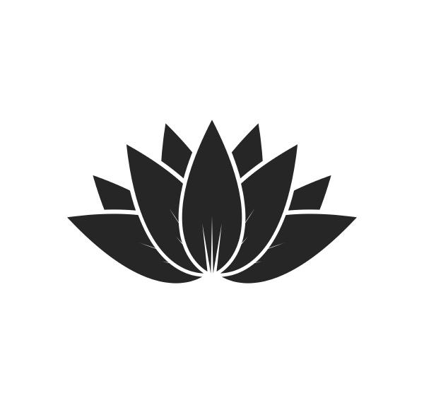 lotus flowers vector design logo