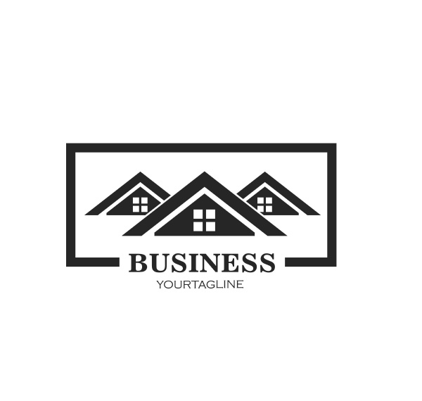 real estate building icon vector template