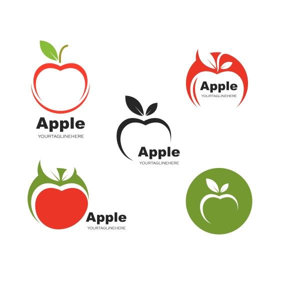 apple logo icon vector illustration design