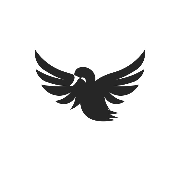 swan logo template vector illustration
