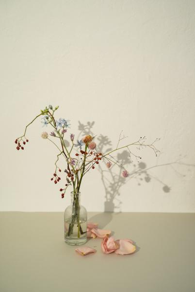 wilting flower arrangement in vase