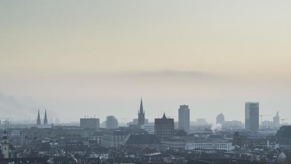 duesseldorf cityscape at dusk north rhine