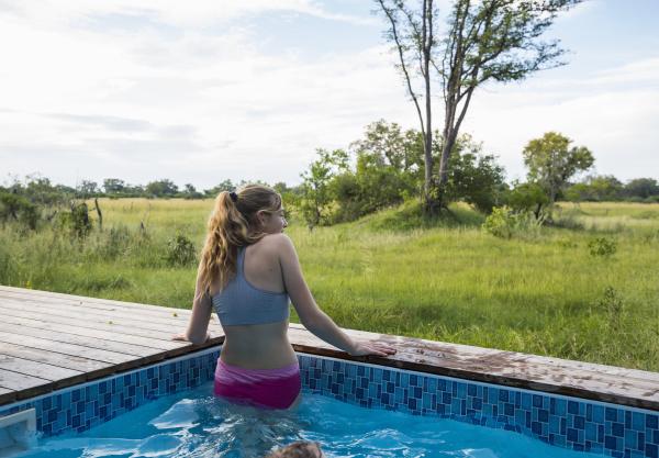 a teenage girl in a swimming