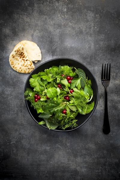 oriental herb salad mint parsley dill