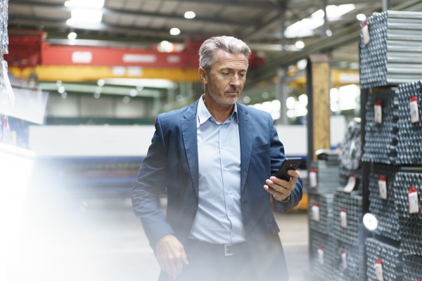 mature businessman using mobile phone in