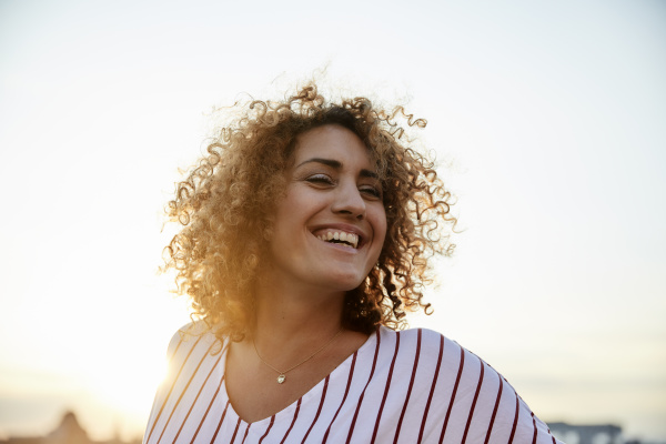 portrait of smiling woman in the