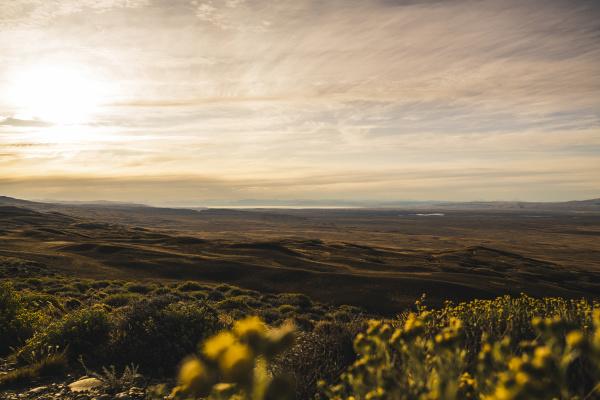 argentina sunset over patagonian landscape