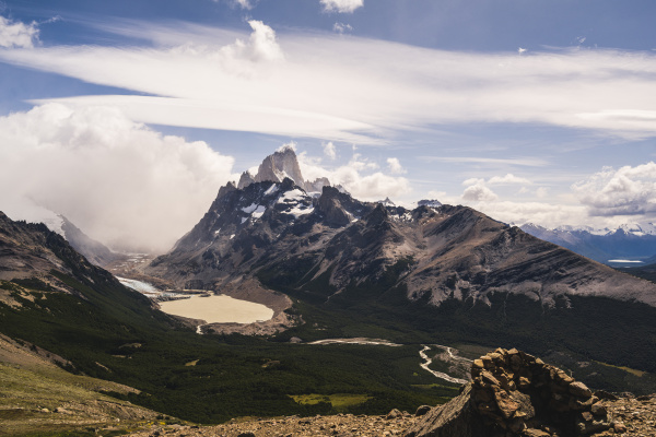 argentina scenic view of mountain