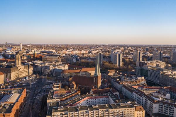 germany berlin aerial view of saint
