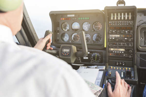 pilot flying in sports plane vfr