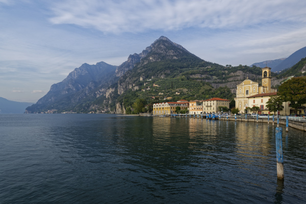 italy lombardy marone lake iseo with