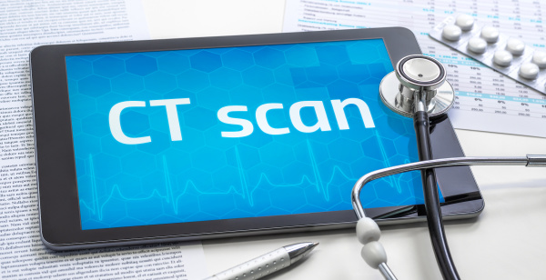 the word ct scan on the
